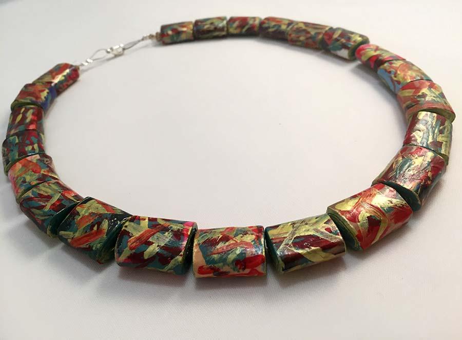 Arcobaleno Handmade Paper Necklace   Lokta Art