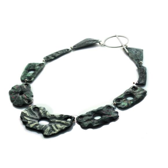Narcissus - handmade paper necklace - lokta Art