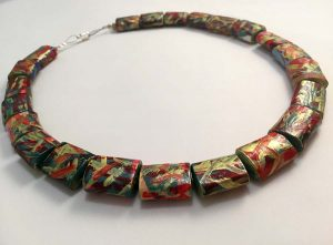 Arcobaleno Paper Necklace - Handmade Paper Jewelry - Lokta Art
