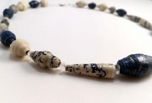 Blue - Lokta Paper Jewelry - Lokta Art