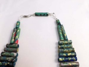 Futuro Paper Necklace - Handmade Paper Jewelry - Lokta Art