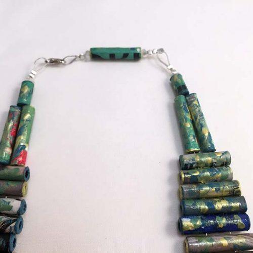 Futuro Paper Necklace - Handmade Paper Jewelry - Lokta Art