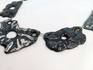 Narciso Paper Necklace - Handmade Paper Jewelry - Lokta Art