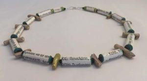 Pinelopi - Handmade Paper Necklaces - Handmade Paper Jewelry