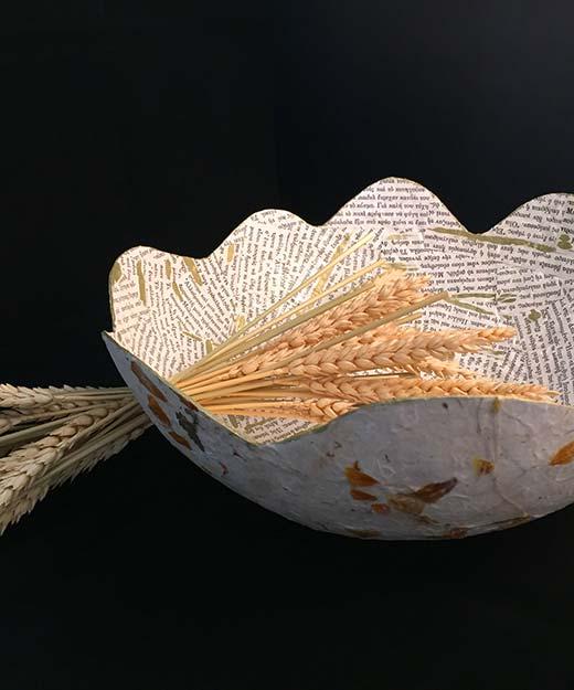 Wild Wheat - Paper Art Deco - Lokta Art