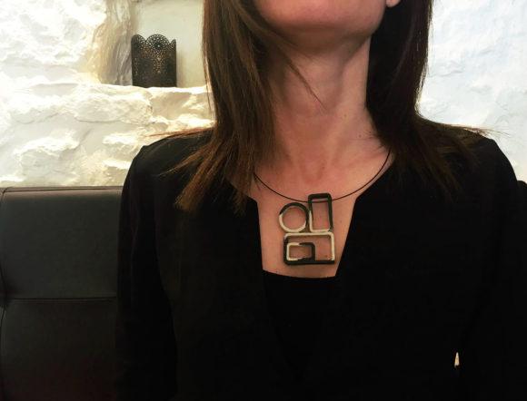Geometric Handmade paper jewelry- Lokta art