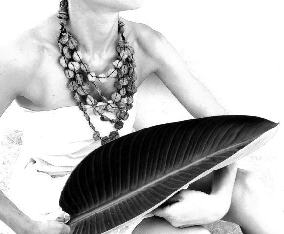Acqua Verde - Paper Necklace - Handmade Paper Jewelry - Lokta Art