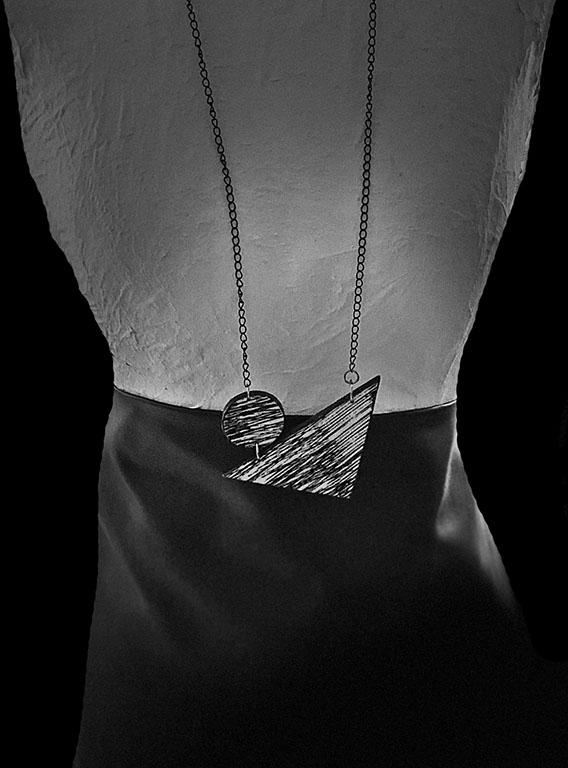 Black & White - Handmade paper Jewelry - Lokta Art