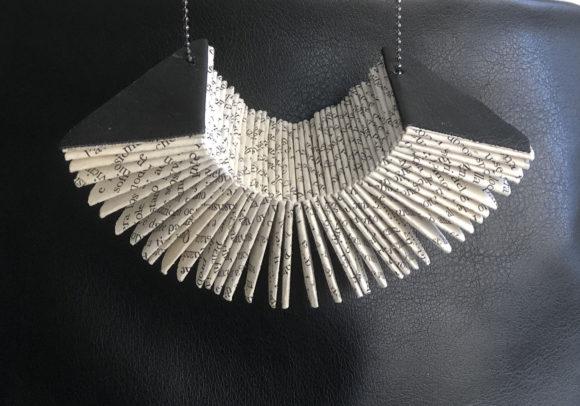 Triangular Be-Fold necklace - Handmade Paper Necklace - Lokta Art